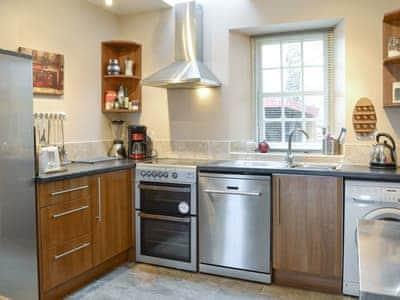 Well-equipped fitted kitchen | Gardener's Cottage, Aberlady, near Gullane