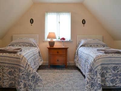 Twin bedroom | Tidereach, Connel, near Oban