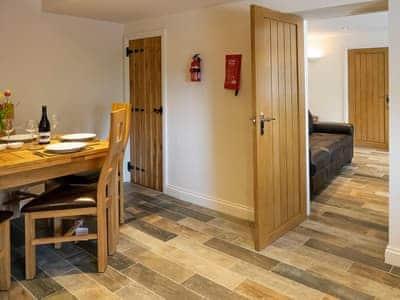 Charming dining area adjacent to the living room   Mariner's Cottage, Lindale, near Grange-over-Sands