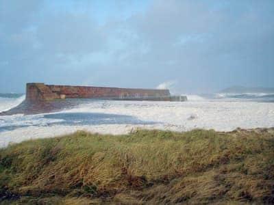 Winter storm, Ballantrae harbour | Ingleside, Ballantrae, near Girvan