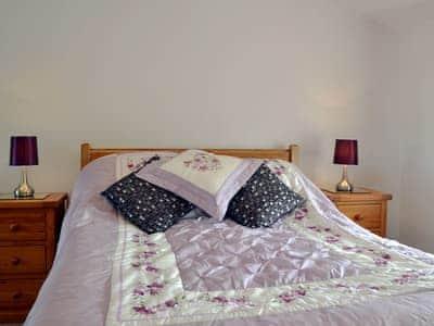 Comfortable double ebdroom | Fargen Wen, Glanrafon, Llangoed near Beaumaris