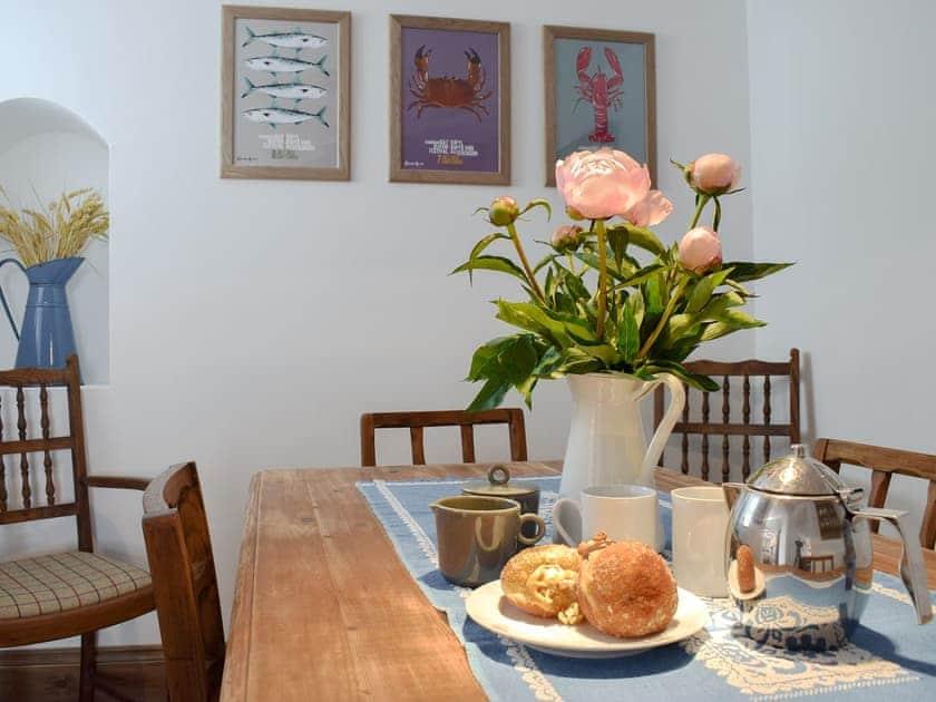 Well presented dining area   Pensarnau, Sarnau, near Tresaith