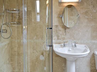 En-suite to master bedroom | Waters Edge, Craster, near Alnwick