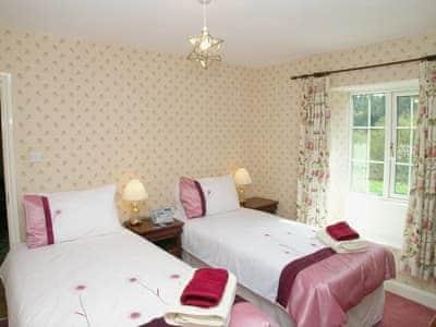 Twin bedroom   Bickley School - Bickley School House, Bickley, nr. Langdale End