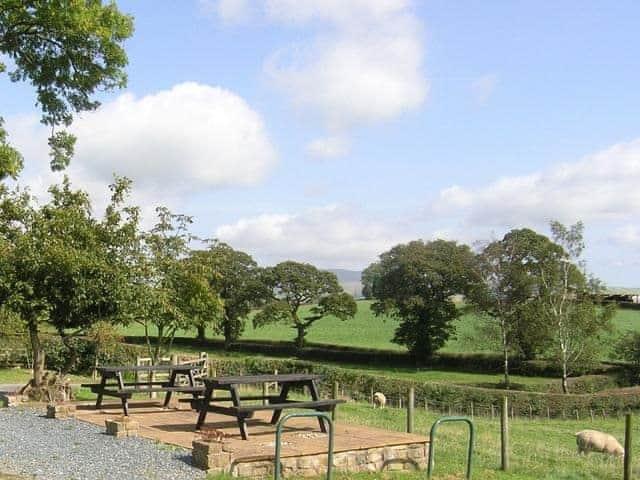 Outdoor eating area | Whernside View, near Ingleton