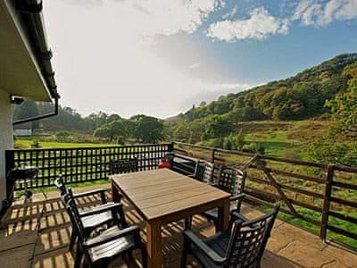 Dining deck | Strathlachlan Lodge, Loch Fyne, nr. Strachur