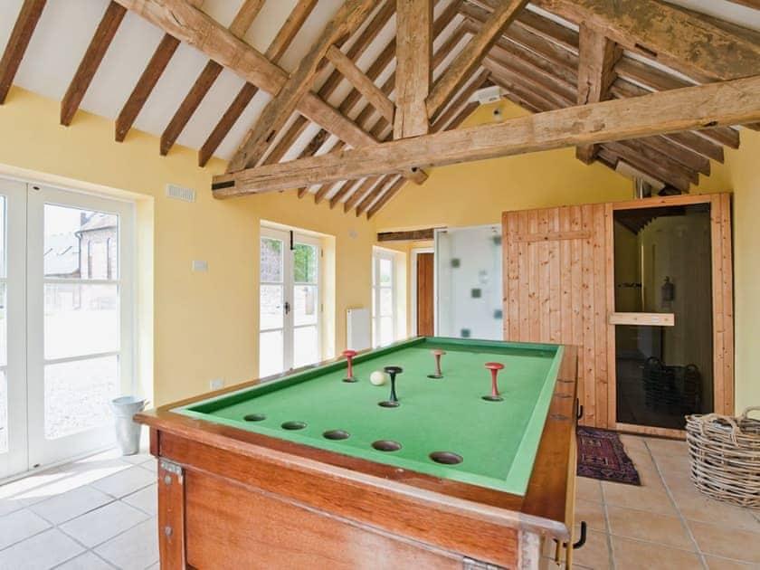 Games room & sauna | The Pitchford Estate - Windy Mundy Farm, Pitchford, nr. Shrewsbury