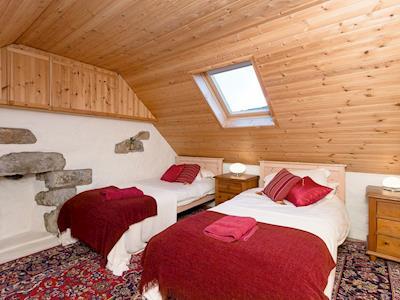 Charming twin bedroom | Old Lighthouse Keeper, Milovaig, Isle of Skye