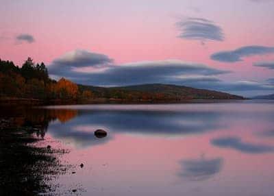 Loch at sunset | Campbell, Rannoch, Pitlochry