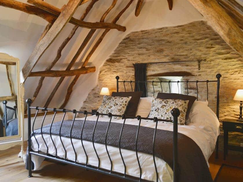 Double bedroom   The Threshing Barn, Patchole, Kentisbury, Barnstaple