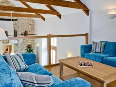Mezzanine sitting area perfect for relaxing | Felin Hedd, Tregaron, near Aberystwyth