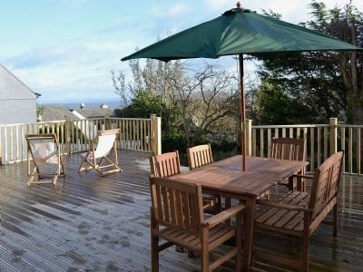 Sitting-out-area | Bryn Euryn Cottage, Rhos-on-Sea, nr. Colwyn Bay