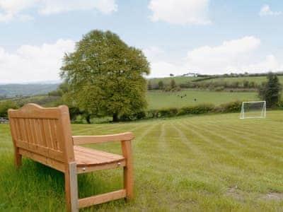 Garden football pitch   Bwlch Y Person Barns - Beudy, Dihewyd, nr. Aberaeron