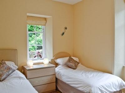 Twin bedroom | The Shepherd's Cottage, Dunbar, nr. Stenton