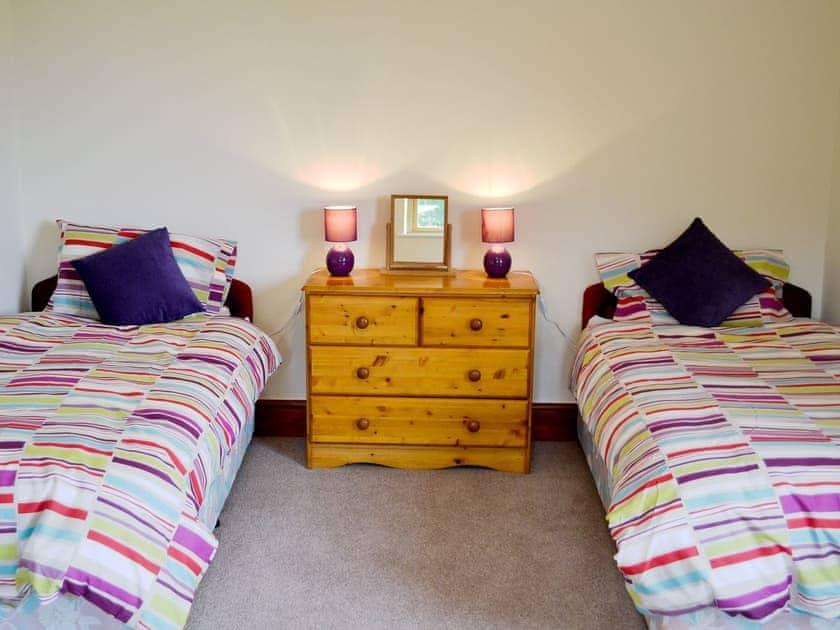 Twin bedroom | Greenmeadow Bungalow, Llanon, nr. Aberaeron