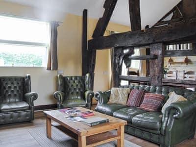 Living room | Hirros Hall Longhouse, Llanerfyl, nr. Welshpool