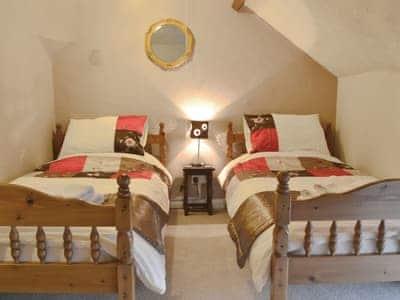 Twin bedroom   Coed Adam, Llangyndeyrn, Kidwelly