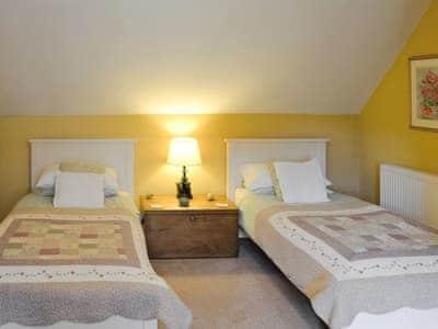 Twin bedroom | Scaurbrae Cottage, Speddoch near Dumfries