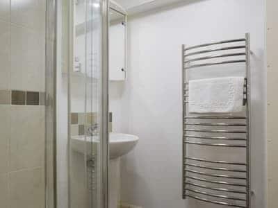 Shower room with heated towel rail | 4 Balmoral House, Keswick