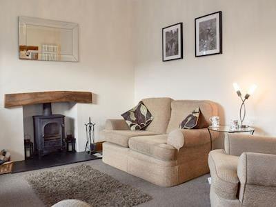 Stylish lounge with wood-burner | Holborn House, Bowness on Windermere