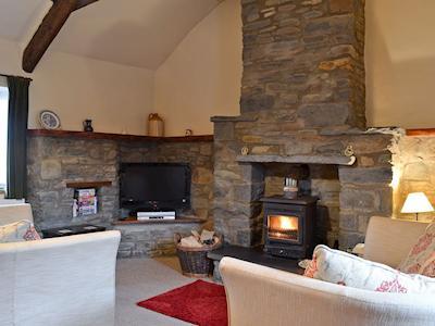 Living room | Beudy Mawr and Beudy Bach Cottages - Beudy Mawr, Llanfair Clydogau