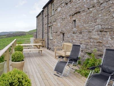 Decking/Balcony | Birkend Farmhouse, Low Row near Reeth