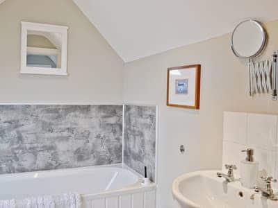 Bathroom | Cleughbrae Cottage, Dalry, nr. Castle Douglas