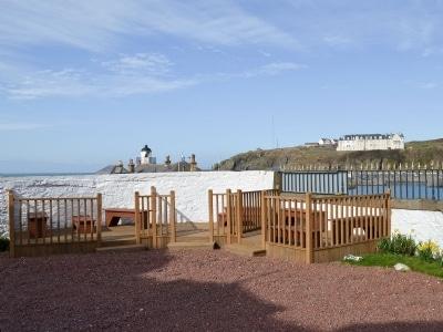 Sitting-out-area   Antrim Coastline View, Portpatrick