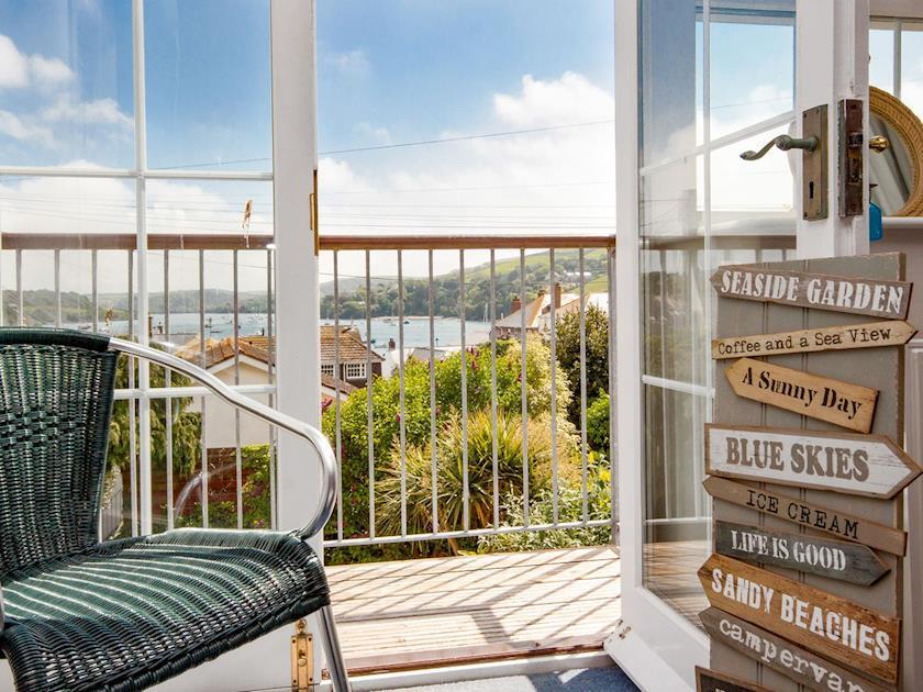 Brilliant views from the bedroom | Courtenay Street 9, Salcombe