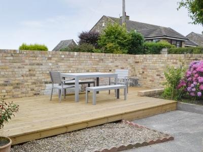 Sitting-out-area | Hauxley Cottages - The Moorings, Hauxley, nr. Amble