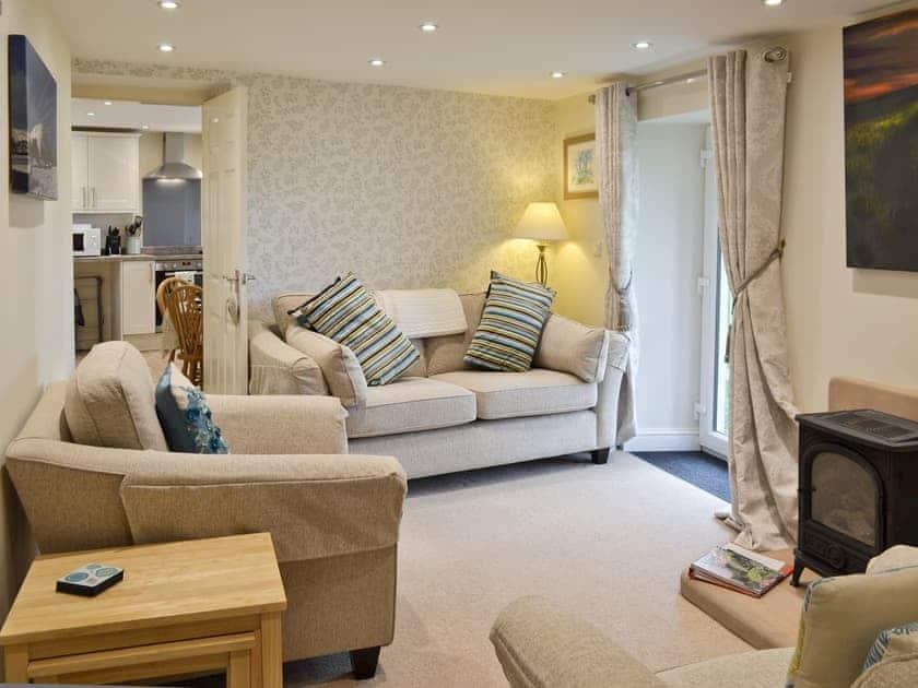 Charming living room | River View Cottage - Bank House Farm, Hulme End, near Hartington
