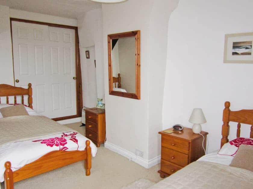 Twin bedroom | Trewethen - Atlantic Cottage, Tregatta, nr. Tintagel