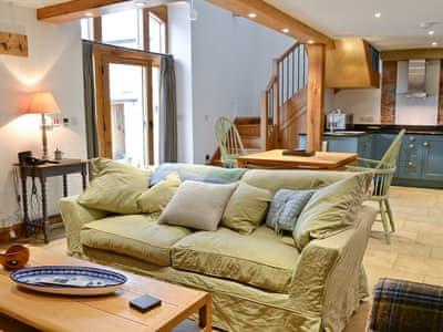 Open plan living/dining room/kitchen | The Barn, Greystoke