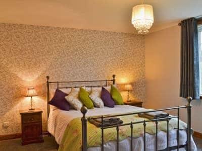 Tastefully furnished double bedroom with 5ft bed | Horsepark Cottage, Gatehouse of Fleet