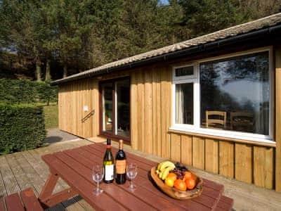 Typical sitting out area | Lagnakeil Lodges - Conifers, Lerags, nr. Oban