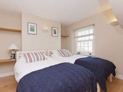 Twin bedroom | Bosun's, 17 Island Street, Salcombe