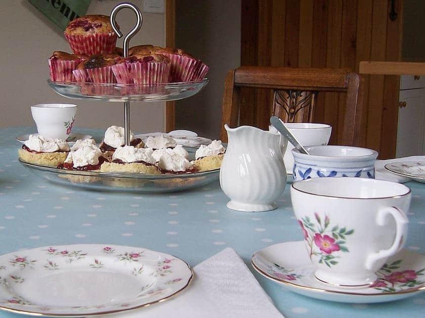 Cream tea for guests on arrival | Oak Bank Cottage, Longhope, nr. Ross-on-Wye
