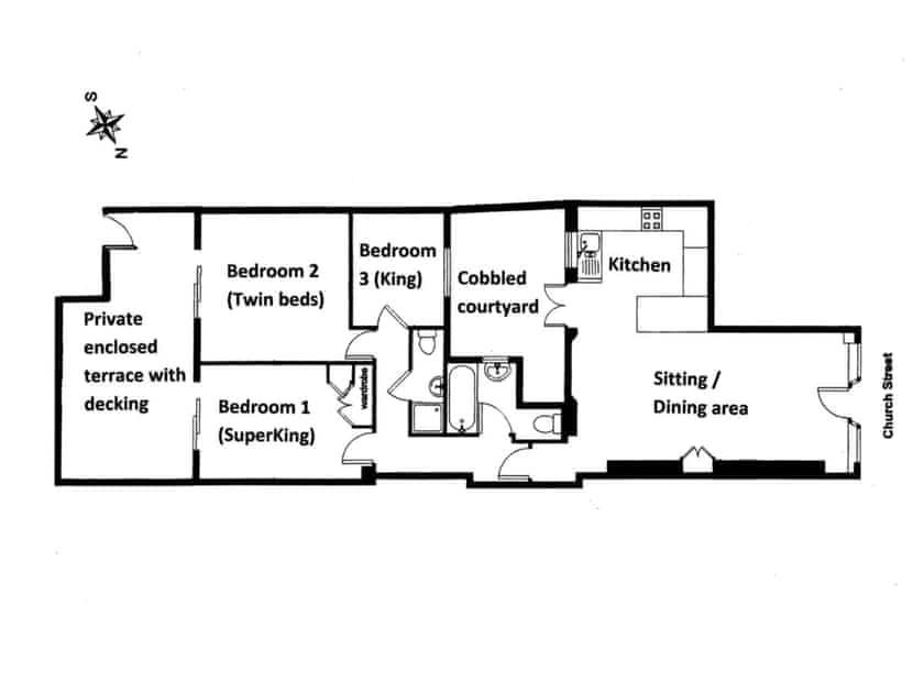Floor plan | Lower Marcam, Salcombe