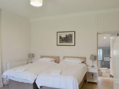 Twin bedroom | Arbigland Farms - Little Dunbar Cottage, Arbigland Estate, Kirkbean nr. Dalbeattie
