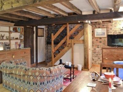 Open plan living/dining room/kitchen | Great Cantal Granary, Llanbister, nr. Llandrindod Wells