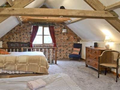 Family bedroom | Great Cantal Granary, Llanbister, nr. Llandrindod Wells