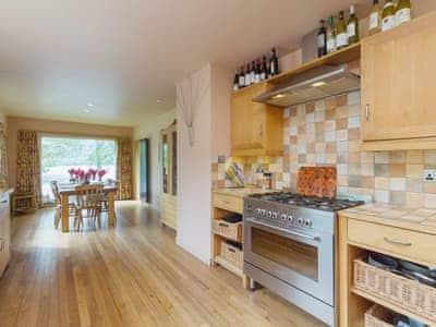 Well equipped kitchen/diner with loch views | Carsaig, Brig o'Turk, near Callander