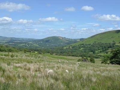 View | Gorsddu, near Llanwrthwl, Powys