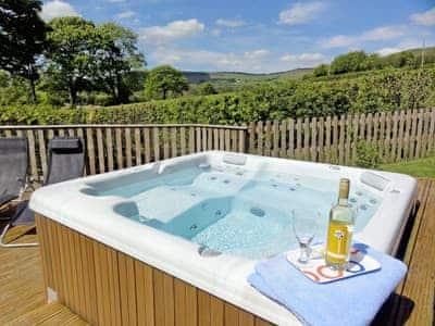Hot tub | Ash Lodge at Lon Lodges, Nr. Rhayader