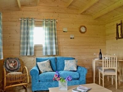 Open plan living/dining room/kitchen   Birdsong Cabin, Breakish near Broadford, Isle of Skye