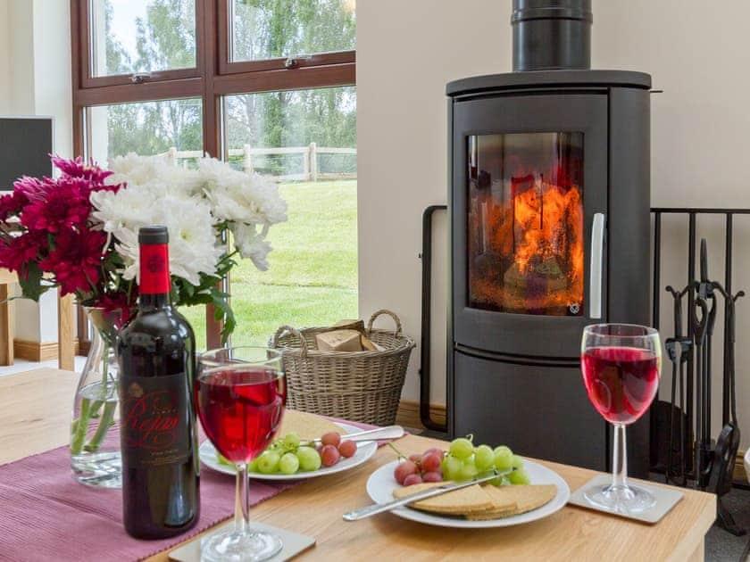 Cosy wood-burning stove | Birch Corner, Aviemore