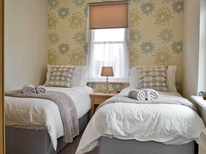Twin bedroom   Cliff Railway Apartment, Aberystwyth