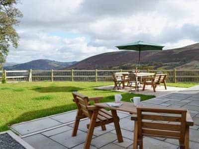 Sitting-out-area | Gorsddu, near Llanwrthwl, Powys