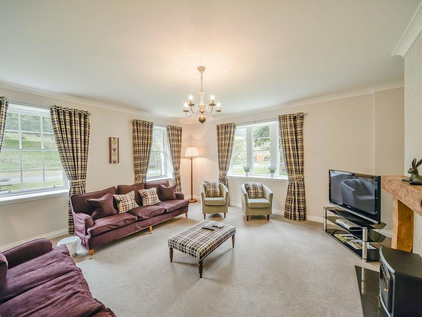 Spacious and elegant living room  | MacKenzie Cottage - Blairquhan Castle Estate, Straiton, near Maybole