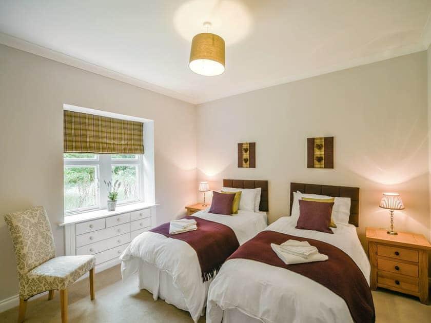 Twin bedroom   Blairquhan Castle Estate - Gardens Cottage, Straiton, nr. Maybole